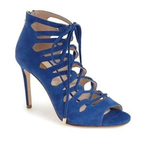 Louise et Cie Lo-Kacy Caged Lace-up Heels Sandals